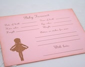 Baby Forecast Guessing Baby Shower Game Activity Cards Fill in the Blanks Vintage Ballerina Set of 10