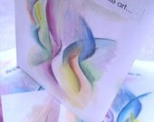 HANDMADE GREETING CARDS - Everyday - Life is like Art Set of 4