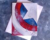 Handmade Greeting Cards - Avengers Inspired Art - CAPTAIN AMERICA