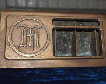 Arts & Crafts Brass Stamp Holder