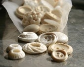 For Krissy: Edible Vintage Candy Buttons 40 IVORY