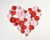 Candy Buttons 100  -Vintage Inspired- Tart Cherry flavor -Red & Pink