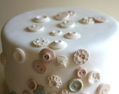 Custom order for Alissa: light gray and cream/white with some shimmer Edible Vintage Vanilla Candy Buttons 150