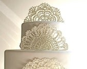 Sugar Doilies, Sugar Lace, Edible Cake Topper / Embellishments / Decorations -3 piece set