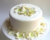 Wedding Cake Decoration : Edible Sugar Dogwood Blossoms and Leaves - Wedding Cake Flowers