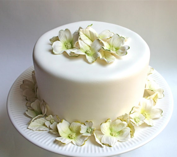 Wedding Cake Flowers Edible: Items Similar To Wedding Cake Decoration : Edible Sugar