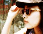 1960s vintage handmade  wooden sunglasses wood  glasses MJX1103 c14 with prescription lenses