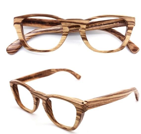 Items similar to handmade zebra wood eyeglasses 1104 c14 ...