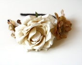 rustic ivory rose headband // woodland collection