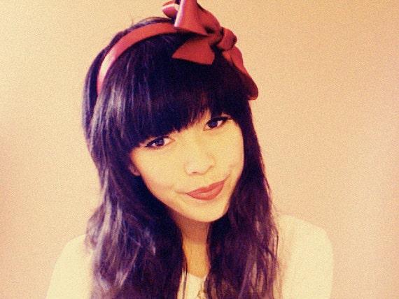 S A L E : Jessica and her bird headband in maroon wine