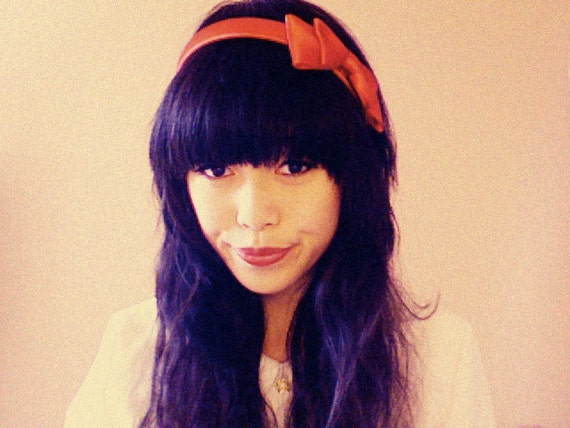 S A L E : Delila headband in cherry red - by kani