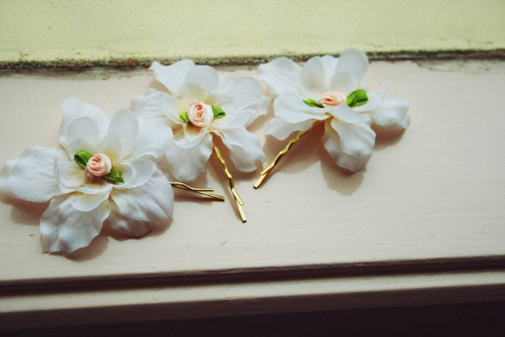 blossom hair pin set of three // woodland collection