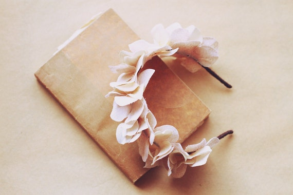petal fairy floral headband - flower hair accessory, headpiece, wedding, bridal, nature.