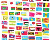 Flags of the World giclee print