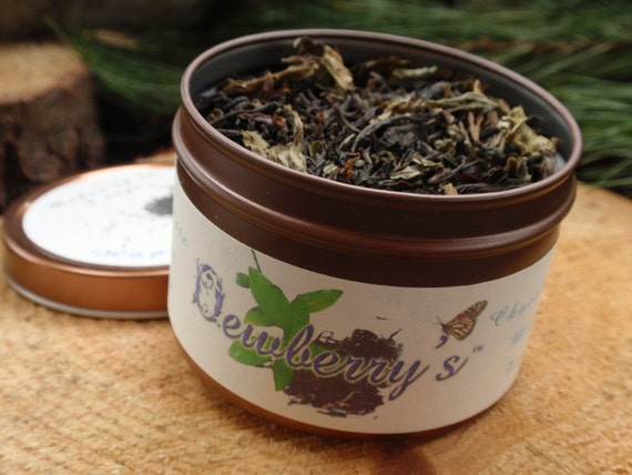 CHOCOLATE MINT Organic Artisan Gourmet Specialty Tea - Delicious, Sensual, Relaxing, Ritual Work