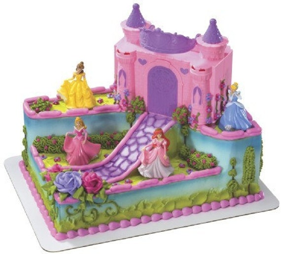 Disney Princess Castle Cake Kit Toppers Belle Ariel Cinderella