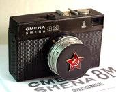 Black LOMO Compact SMENA-8M Camera in BOX -from RussianVintage