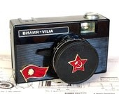 Red Flag USSR LOMOgraphy VILIA Compact Camera In BOX -from RussianVintage