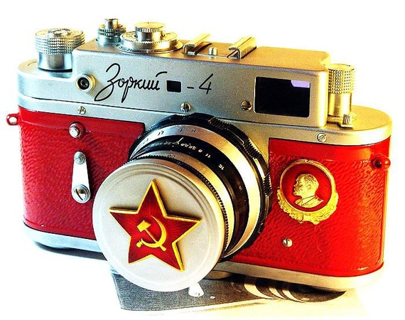 1963 ZORKI-4 camera anniversary of the USSR-from RussianVintage
