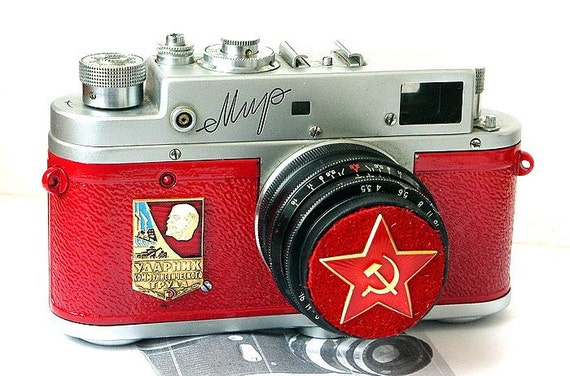 1959 Made in USSR camera  MIR Leica copy-from RussianVintage