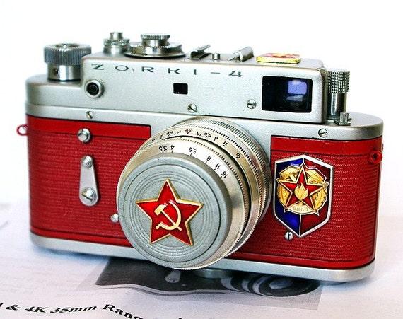 Made in USSR ZORKI-4 camera rare Russian LEICA  -from RussianVintage