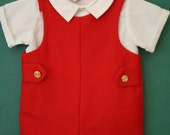 Vintage Boys Good Lad Outfit, 12 Months