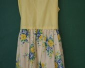 Vintage Handmade Lemon Meringue Dress, 3T