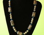 Dalmatian Jasper Artisan Organic Black Necklace