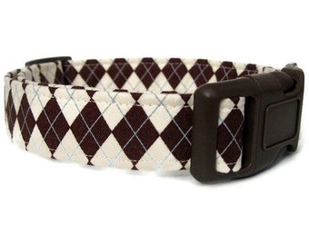 Java Argyle Dog Collar
