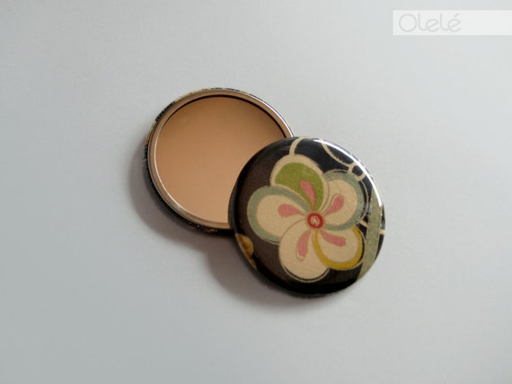 Japanese fabric covered hand mirror