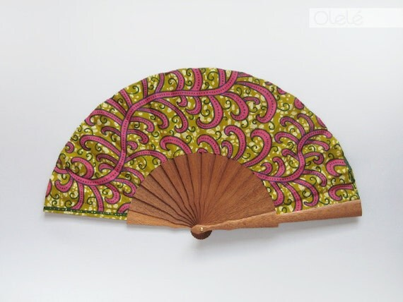 Spanish fan - tribal pink branches - 1AS