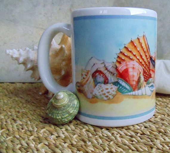 Seashells Mug Ceramic Artprinted Original Design