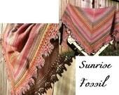 Shifting Stripes Shawl - Sunrise/Fossil