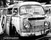 Rusty VW Parts Live On 8x10 BW Print t