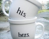 His & Hers Mug Set ... FREE SHIPPING in CANADA