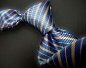 Blue Silk Stripe Tie