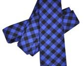 Blue Soft Cotton Narrow Tie