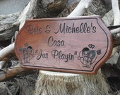 "Custom Engraved Cherry 20"" x 10"" Sign -  Great Wedding, Housewarming, Christmas or Shower Gift"