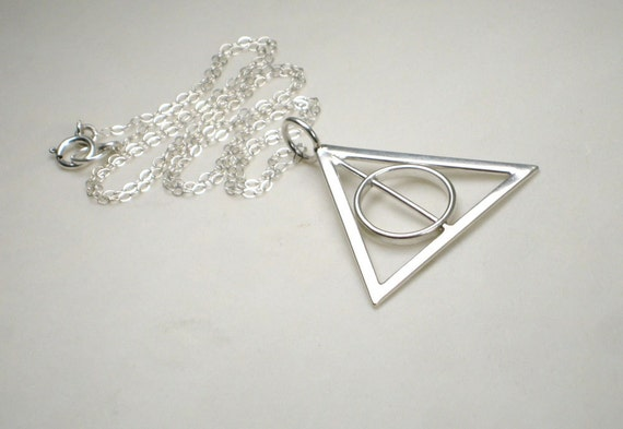 dEaThLy HaLlOwS Necklace - SPINNING Circle Sterling Silver Chain & Pendant
