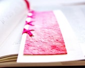 Neon color Artistic paper bookmark Hot Pink abstract Watercolor Israel art