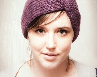 KNITTING PATTERN Parisian Twist Headband Ear Warmer PDF