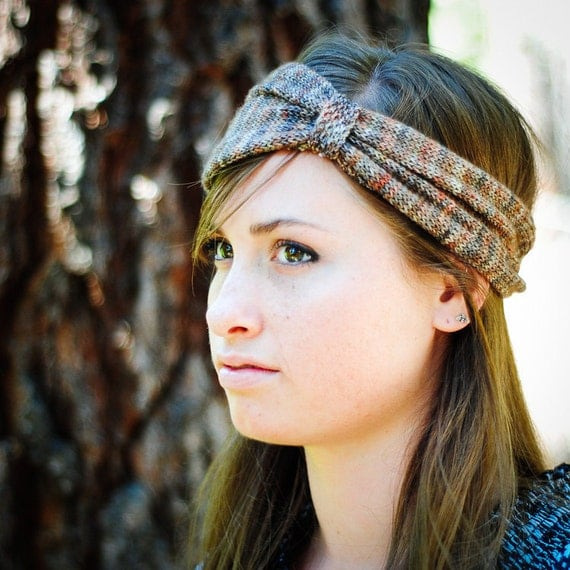 KNITTING PATTERN Bohemian Cinch Head Wrap PDF