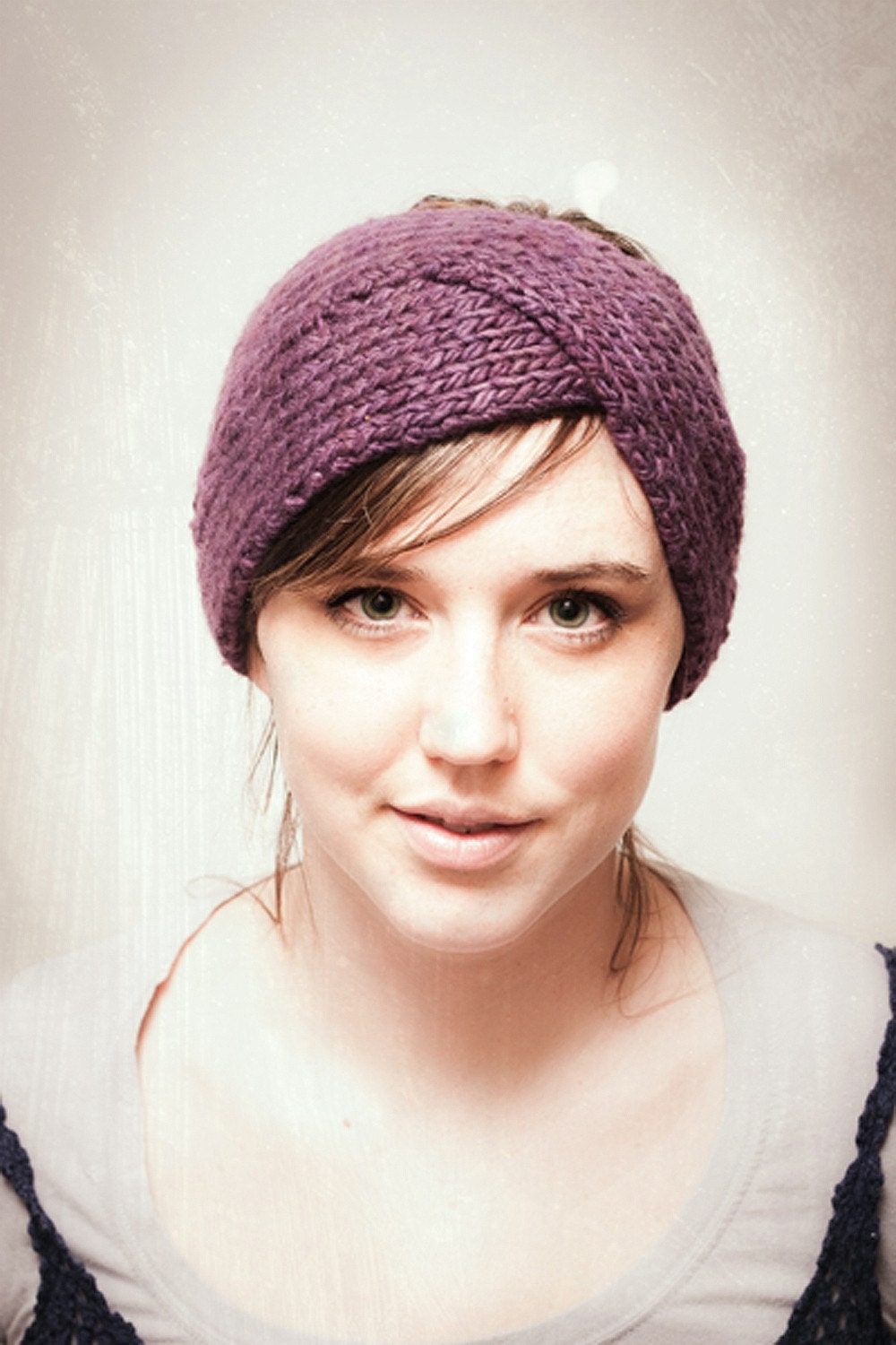 Twisted Headband Knit Pattern : KNITTING PATTERN Parisian Twist Headband Ear Warmer PDF