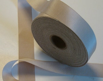 """5 yards of champagne grosgrain millinery ribbon 11/2"""""""