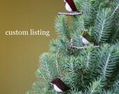 Custom Listing for Carol - Large Tree Star with Bird in Merlot