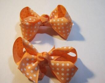 Just Peachy Medium Bows