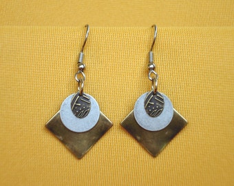 Gold and silver goes with everything earrings (Style #359)
