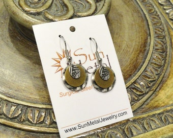 What should I wear today earrings in silver and gold (Style #277G)