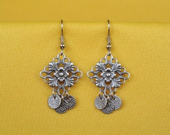 Silver drops earrings (Style #255)