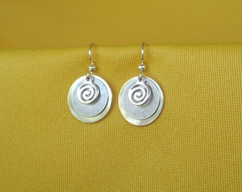 Swirly Girly silver and silver earrings (Style #270S)